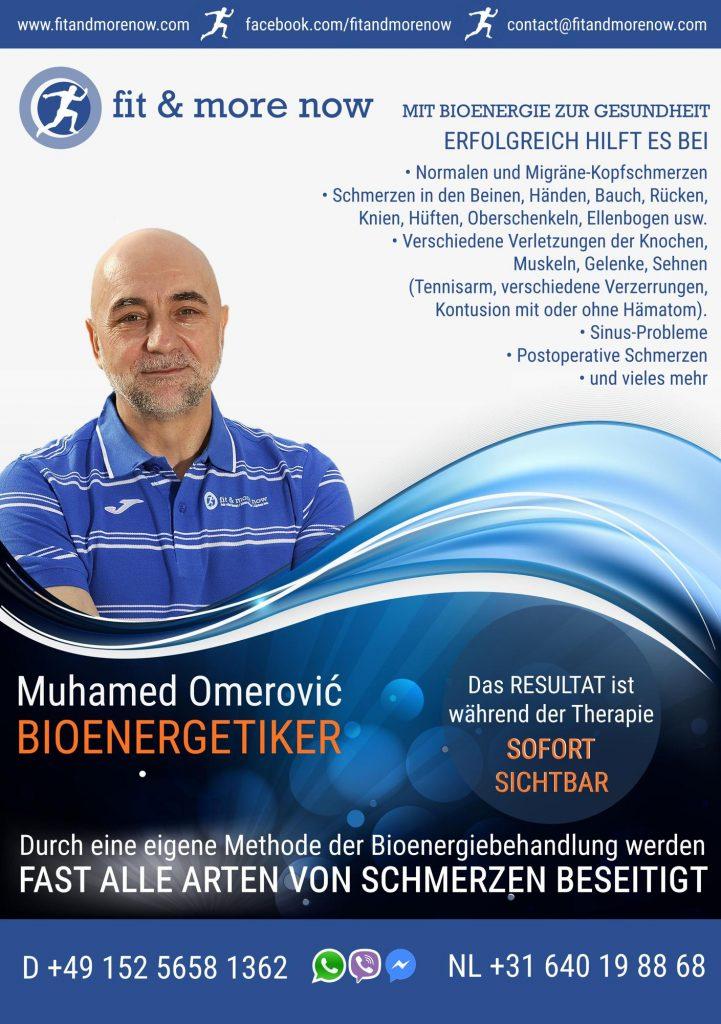 Bioenergetiker Muhamed Omerović, flyer