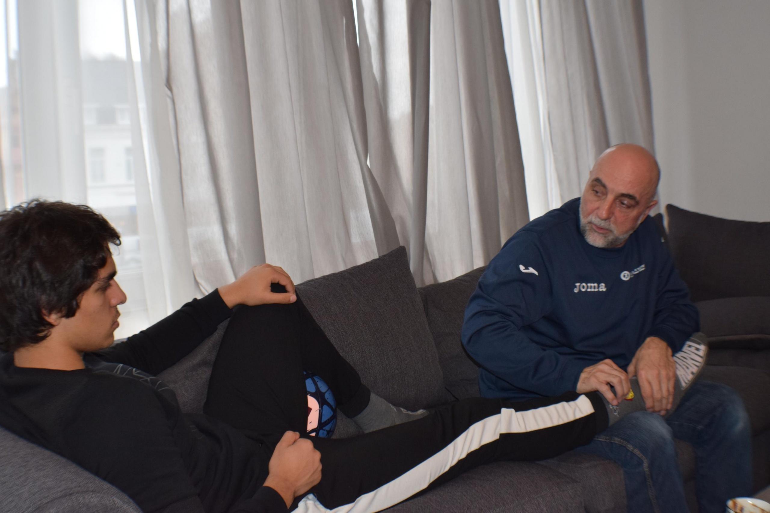 Fudbaler belgijskog Royal Excel Moeskroen-a Rijad Sadiku na tretmanu kod bioenergetičara Muhameda Omerovića
