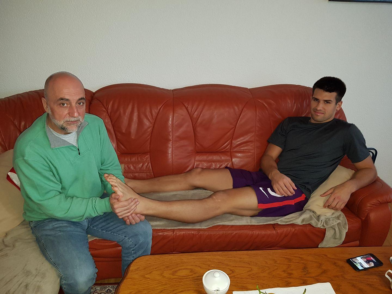 Omerović i golman Osman Hadžikić